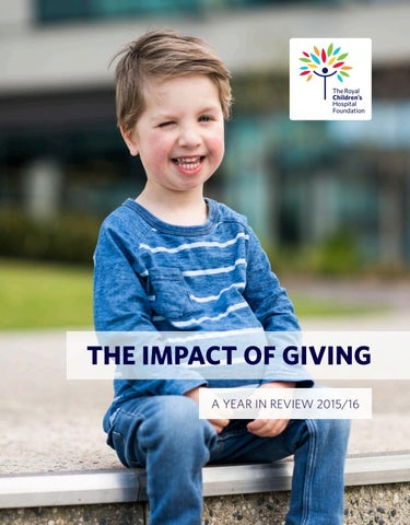 The Impact Of Giving 2016 By Rch Foundation Issuu