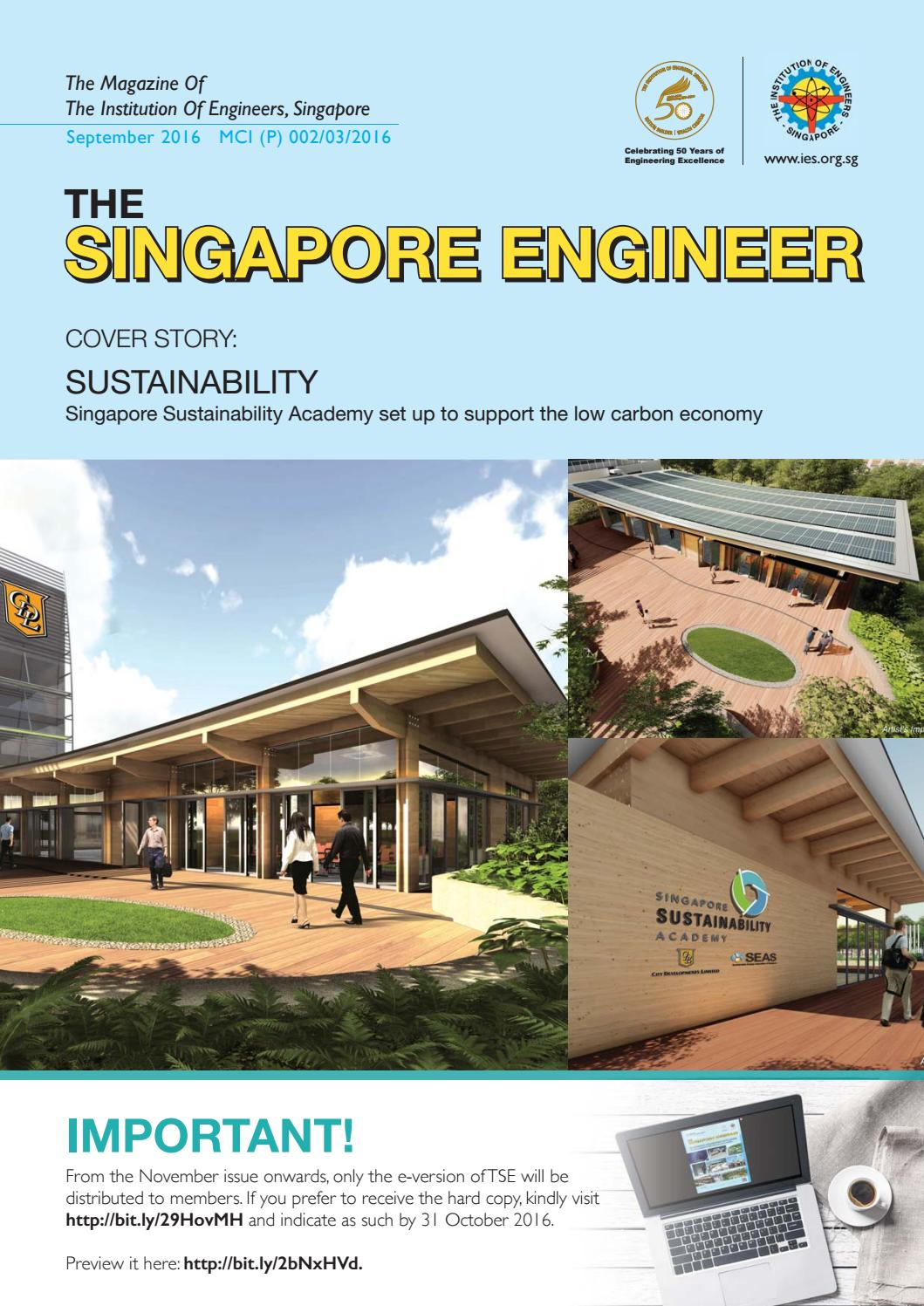 The Singapore Engineer September 2016 By Issuu Piping Layout Jobs In