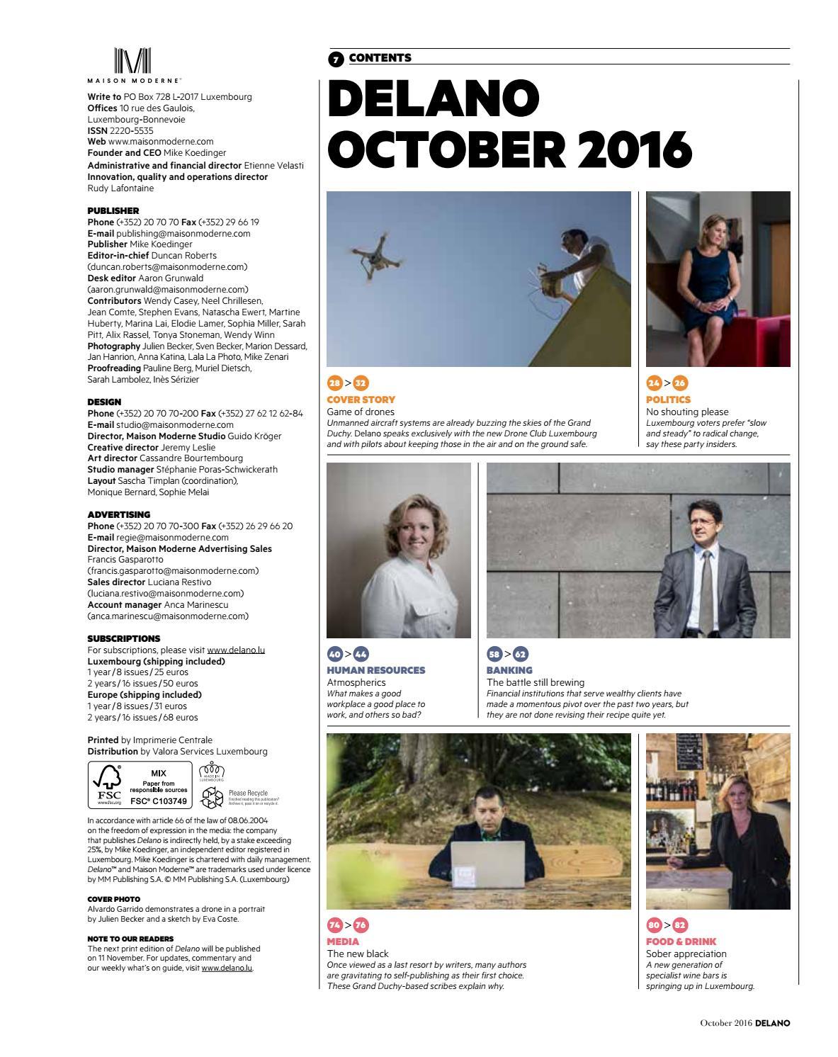 Delano october 2016 by maison moderne issuu for Maison moderne koedinger