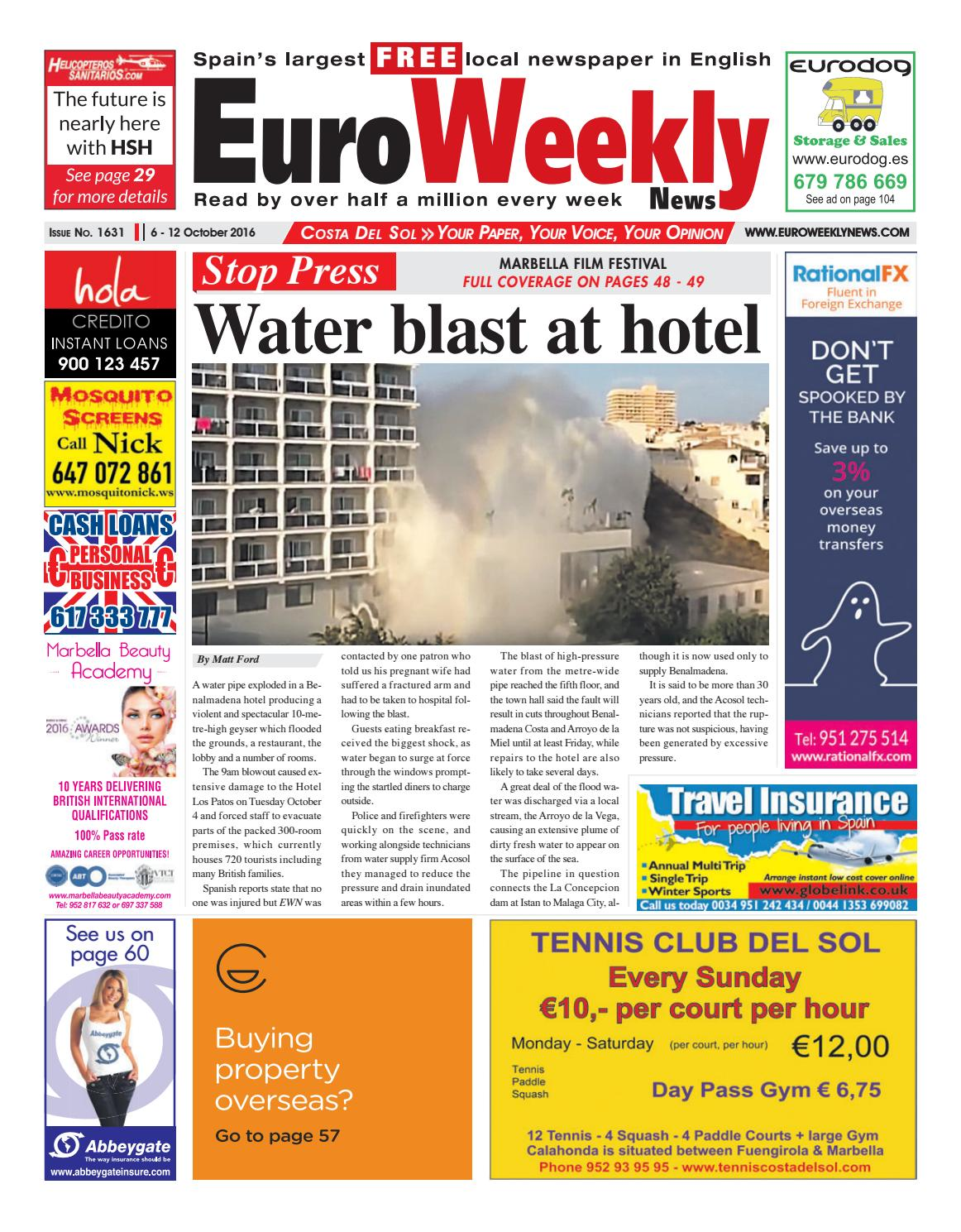 Euro weekly news costa del sol 6 12 october 2016 issue 1631 by euro weekly news costa del sol 6 12 october 2016 issue 1631 by euro weekly news media sa issuu fandeluxe Image collections
