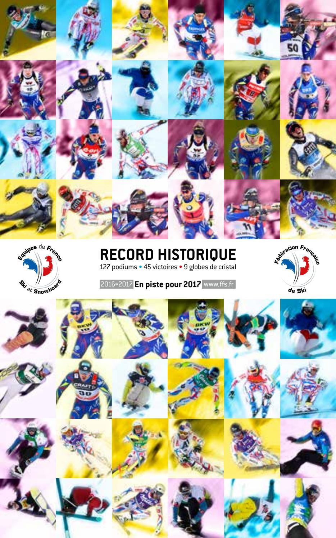 Plaquette des Equipes de France de Ski et Snowboard 1617 by