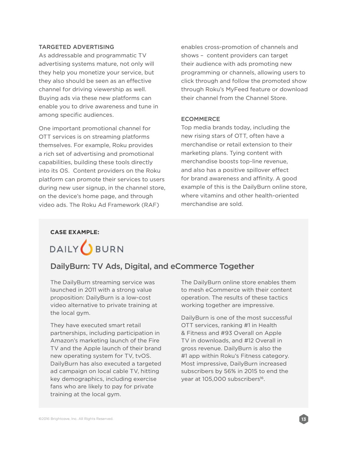 Brightcove White paper - 5 smart tactics for ott success by