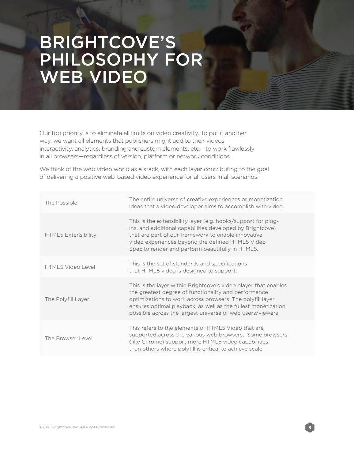 Brightcove White paper - What makes an outstanding video player by