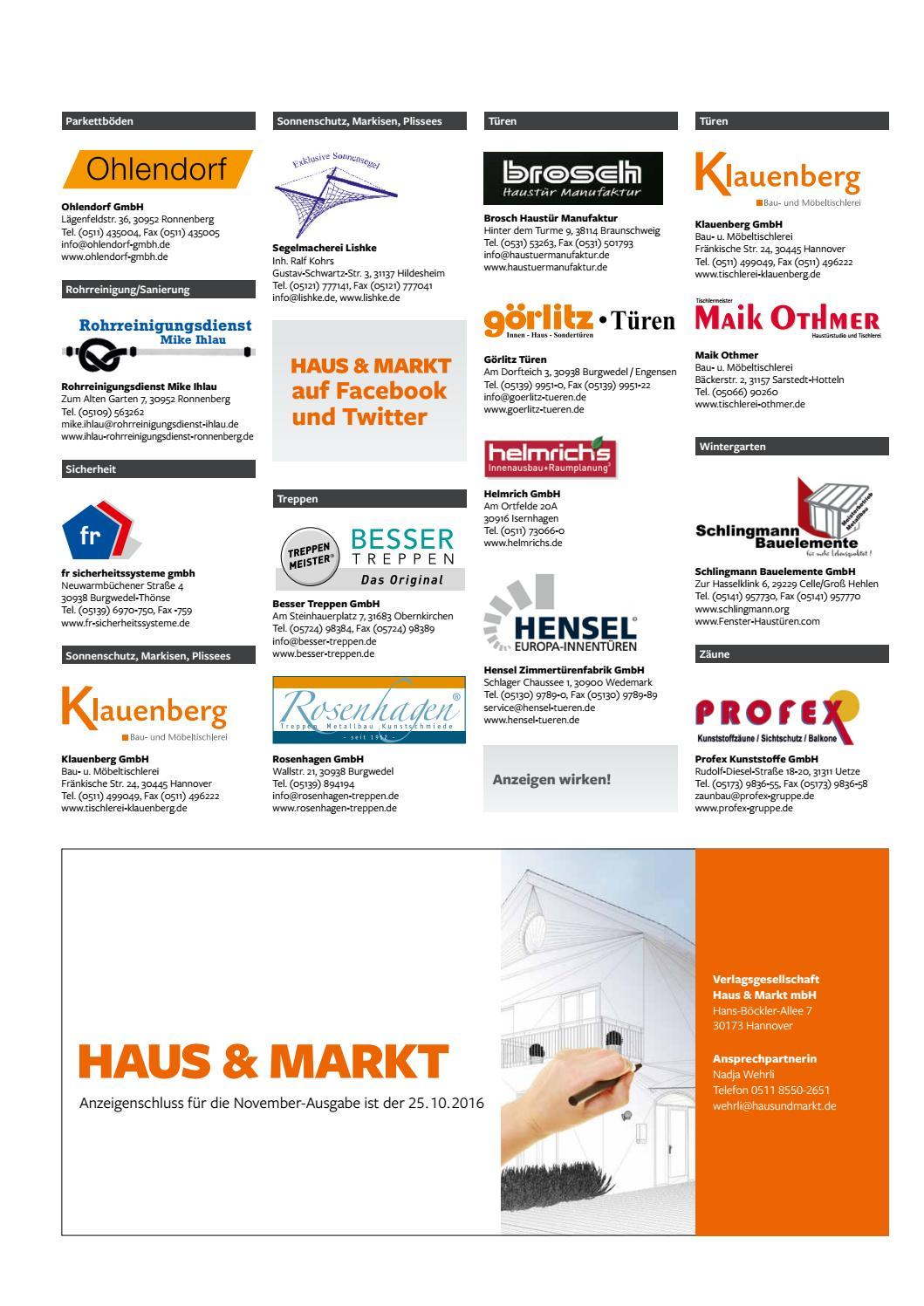 Haus und markt 10 2016 by Schluetersche - issuu
