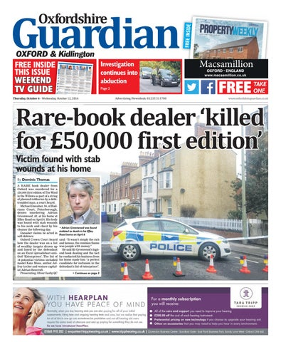 6 October 2016 Oxfordshire Guardian City By Taylor Newspapers