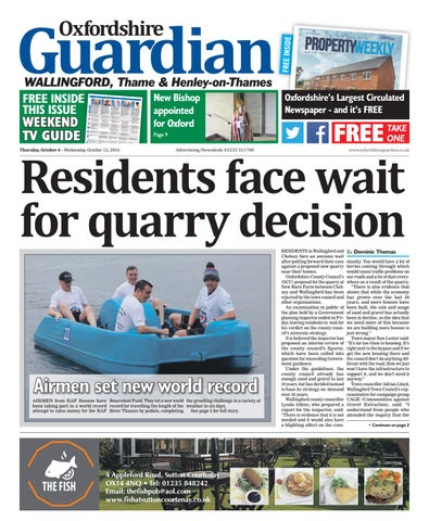 6 October 2016 Oxfordshire Guardian Wallingford By Taylor Newspapers