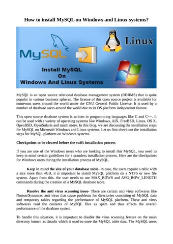 How to install MySQL on Windows and Linux Systems? by