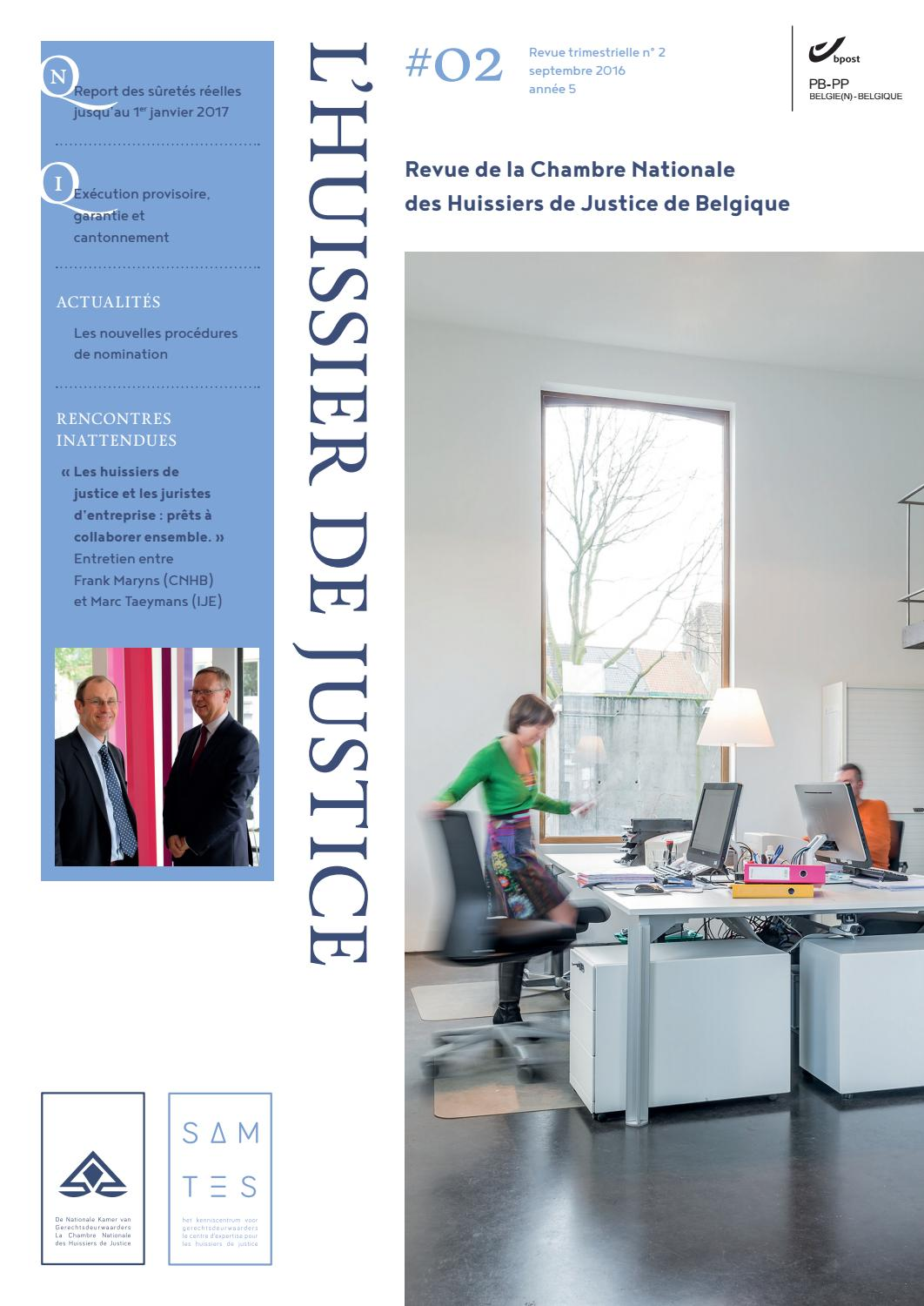 L 39 huissier de justice 02 2016 by sam tes issuu for Chambre huissier 13