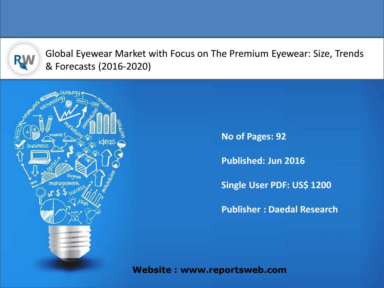 Eyewear Market 2016 Focus on the Premium Eyewear Trends and