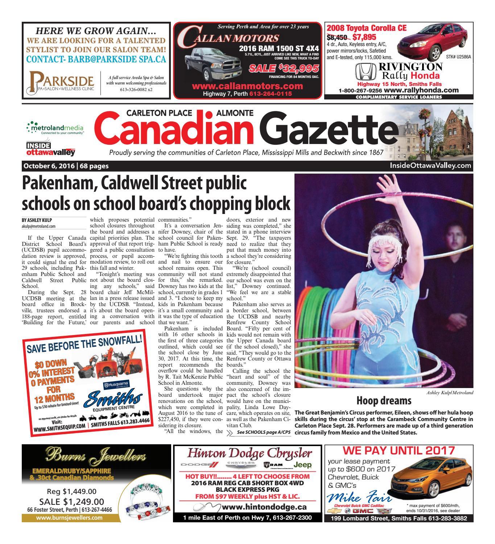 9bf5cad47c Almontecarletonplace100616 by Metroland East - Almonte Carleton Place  Canadian Gazette - issuu