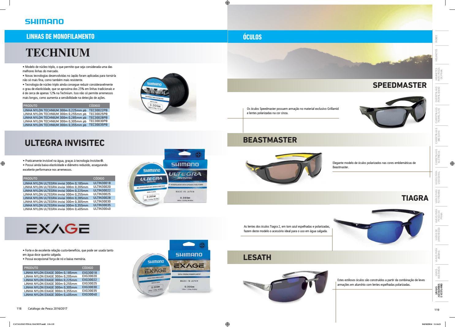 7ef338252de23 Catálogo Shimano de pesca 2016  2017 by Shimano Brasil - issuu