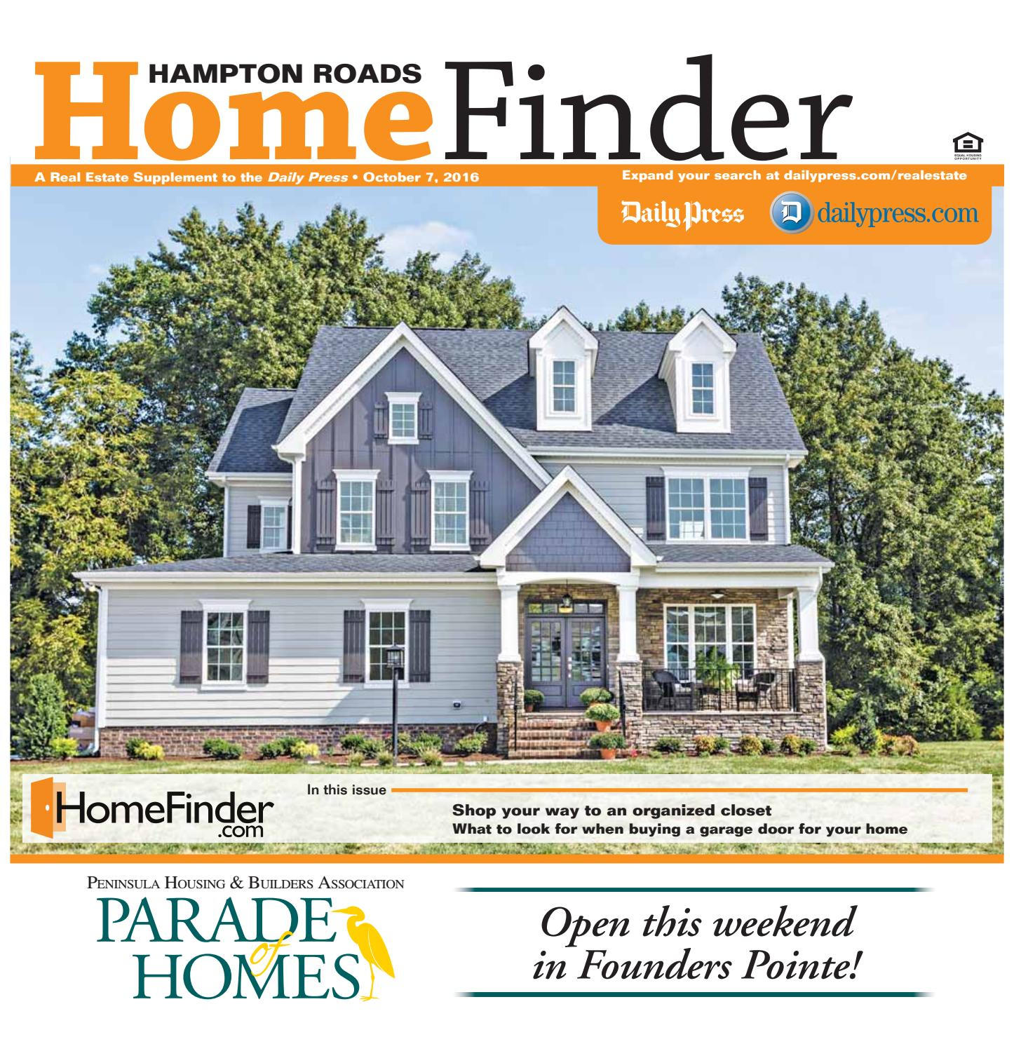 Home Finder For Rent: October 7, 2016 By Daily Press Media Group