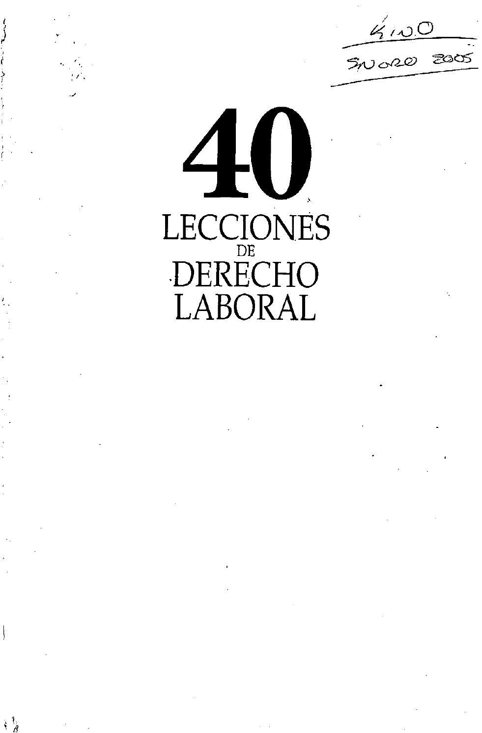 40 lecciones de derecho laboral by Adeprin - issuu