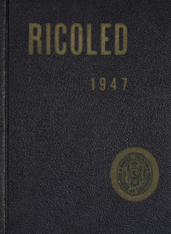 Ricoled 1947 Yearbook By Rhode Island College Digitial