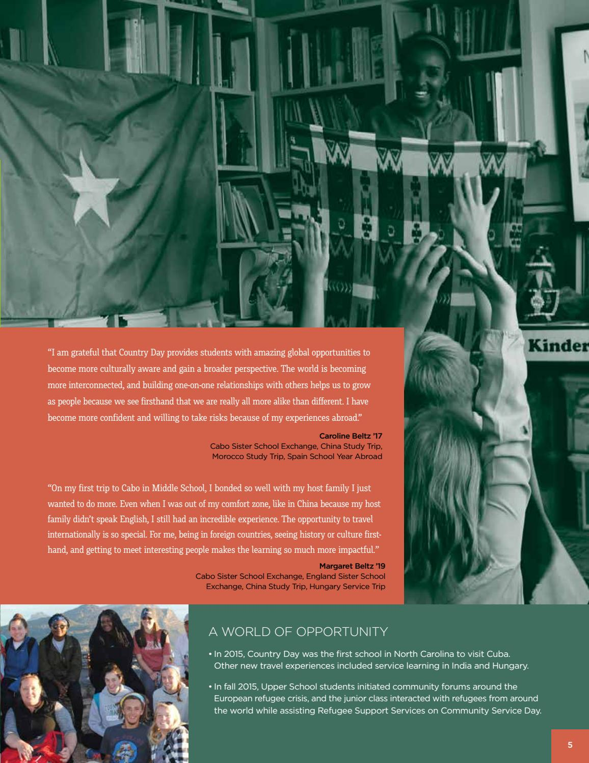 Making an Impact by Charlotte Country Day School - issuu