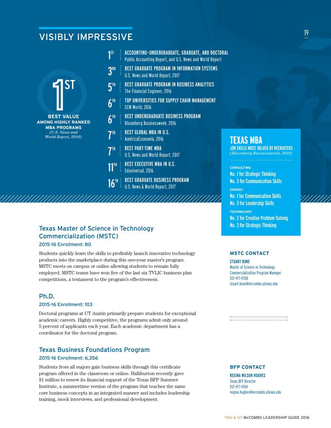 You&UT McCombs Leadership Guide 2016 by McCombs School of