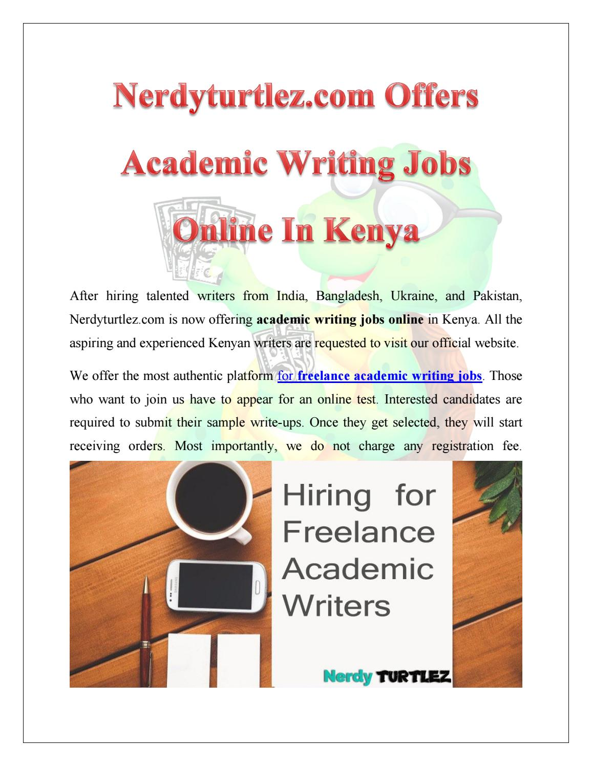 Writing service online jobs in olx kenya