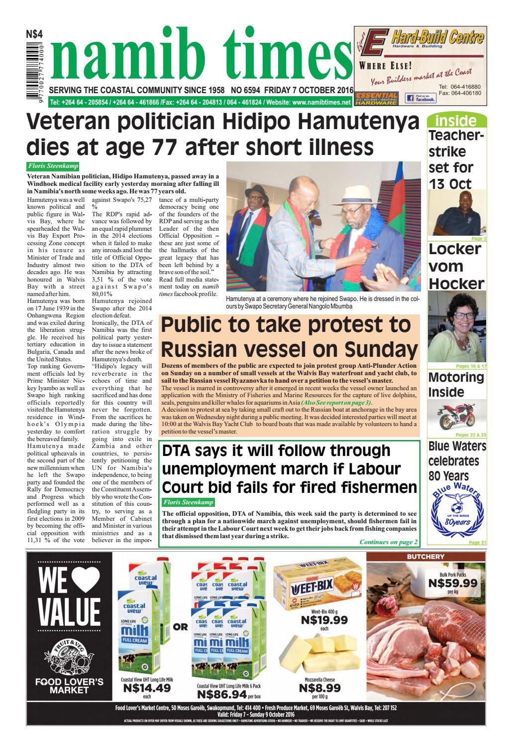 07 october namib times e edition by Namib Times Virtual - issuu