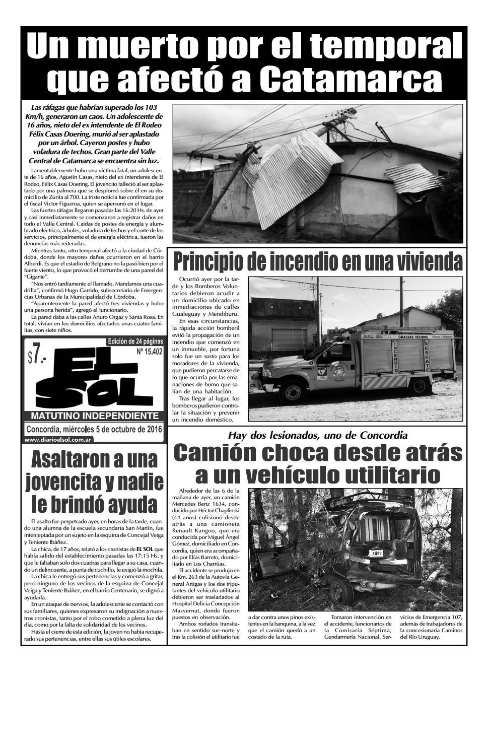 Diario El Sol (Miércoles 05 octubre 2016) by Diario El Sol - issuu