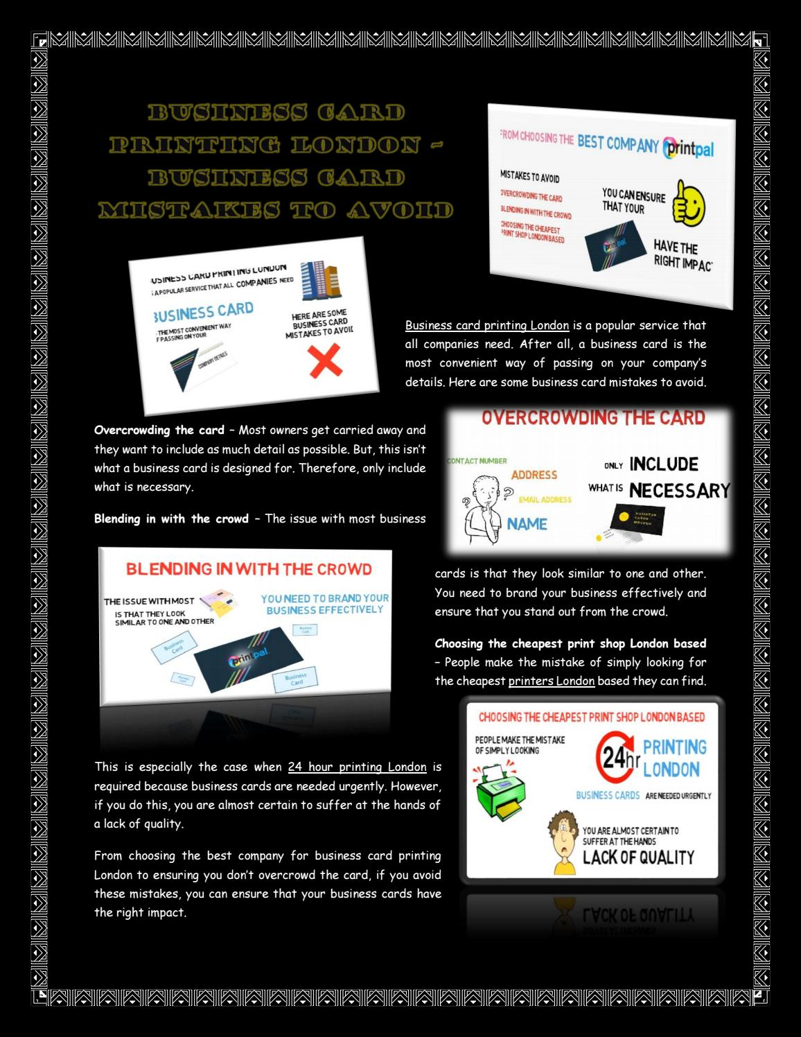 Business Card Printing London – Business Card Mistakes To Avoid by ...