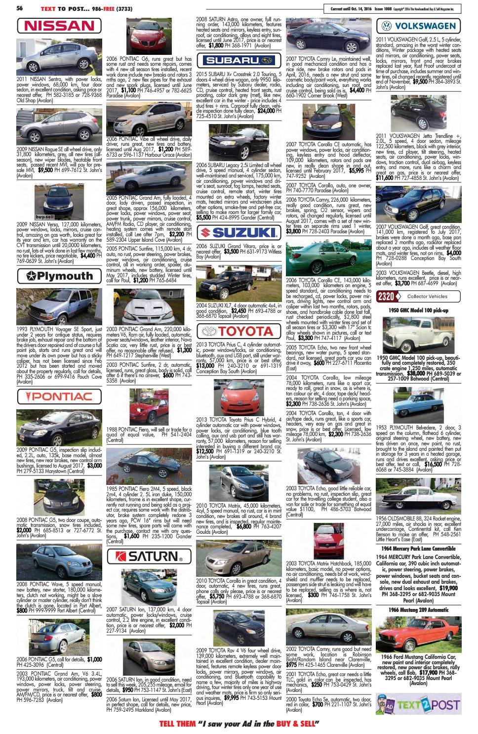 Buy Sell Magazine 1008 By Nl Issuu Pontiac Fiero Automatic