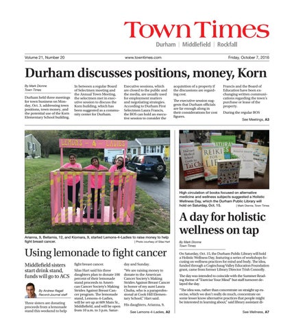 b946570c3ca 20161007towntimes by Town Times Newspaper - issuu