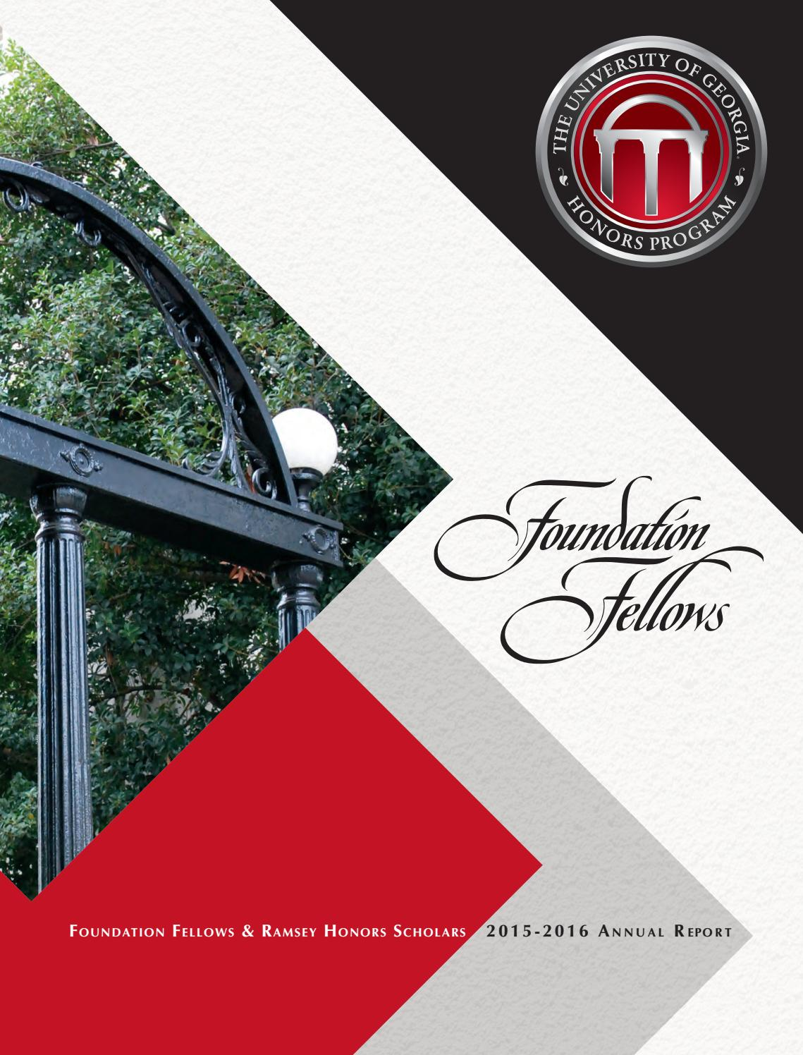 Foundation Fellows Annual Report, 2015-2016 by UGA Honors