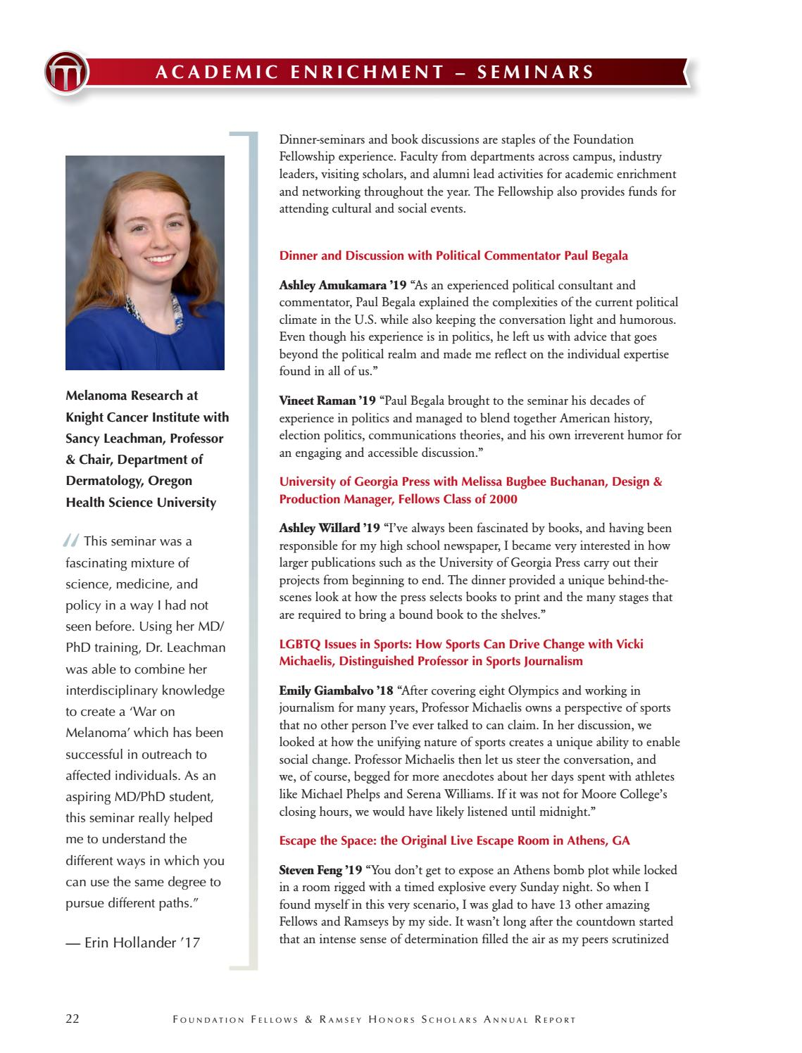 740ce0e2 Foundation Fellows Annual Report, 2015-2016 by UGA Honors Program ...