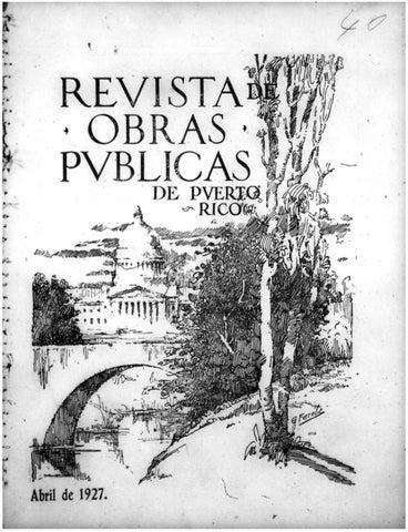 Revista de Obras Públicas de Puerto Rico by Colección Puertorriqueña ...