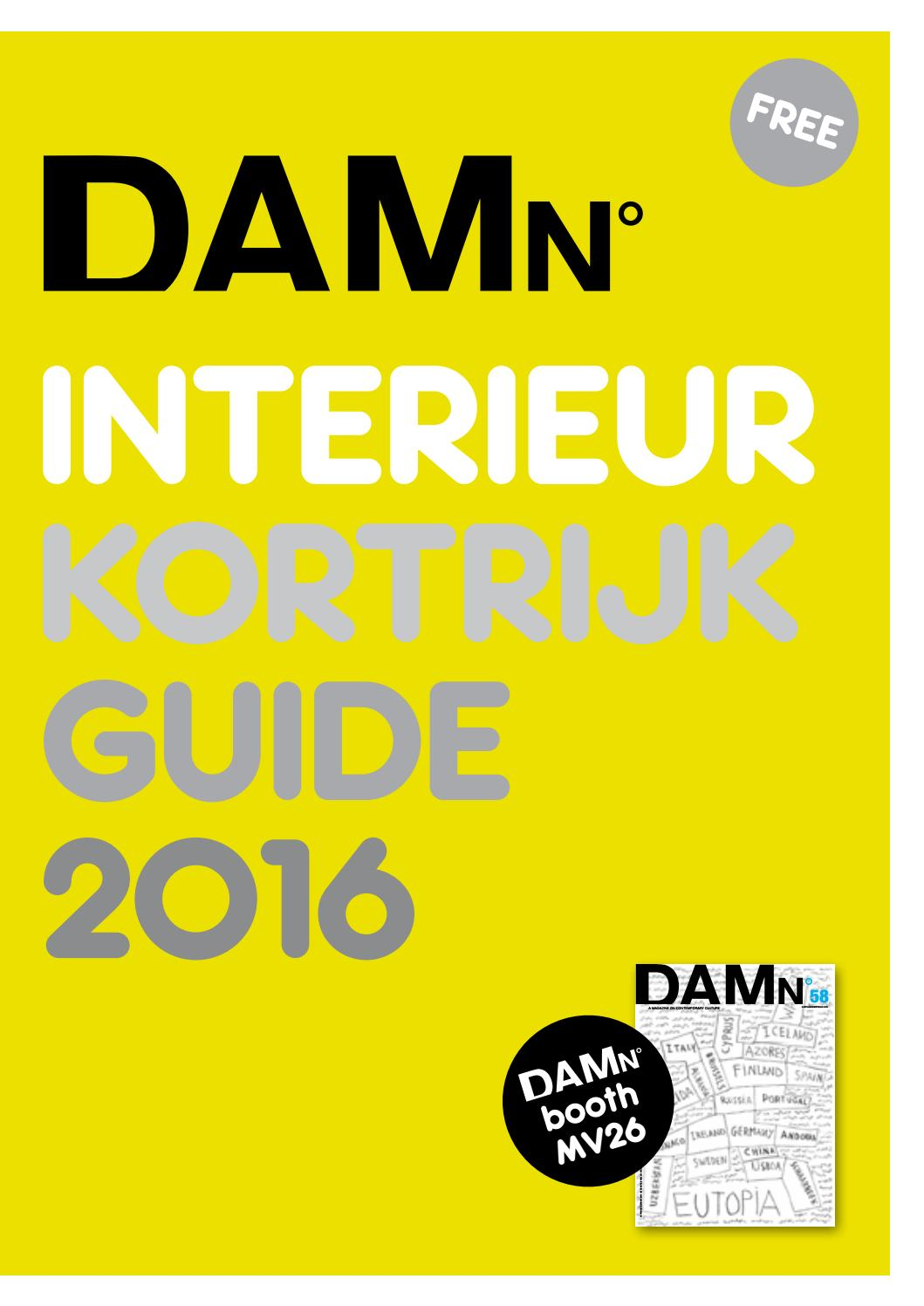 interieur kortrijk guide 2016 by damn magazine issuu. Black Bedroom Furniture Sets. Home Design Ideas