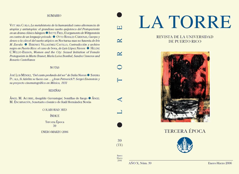 La Torre 2006 enero-marzo by La Editorial UPR - issuu