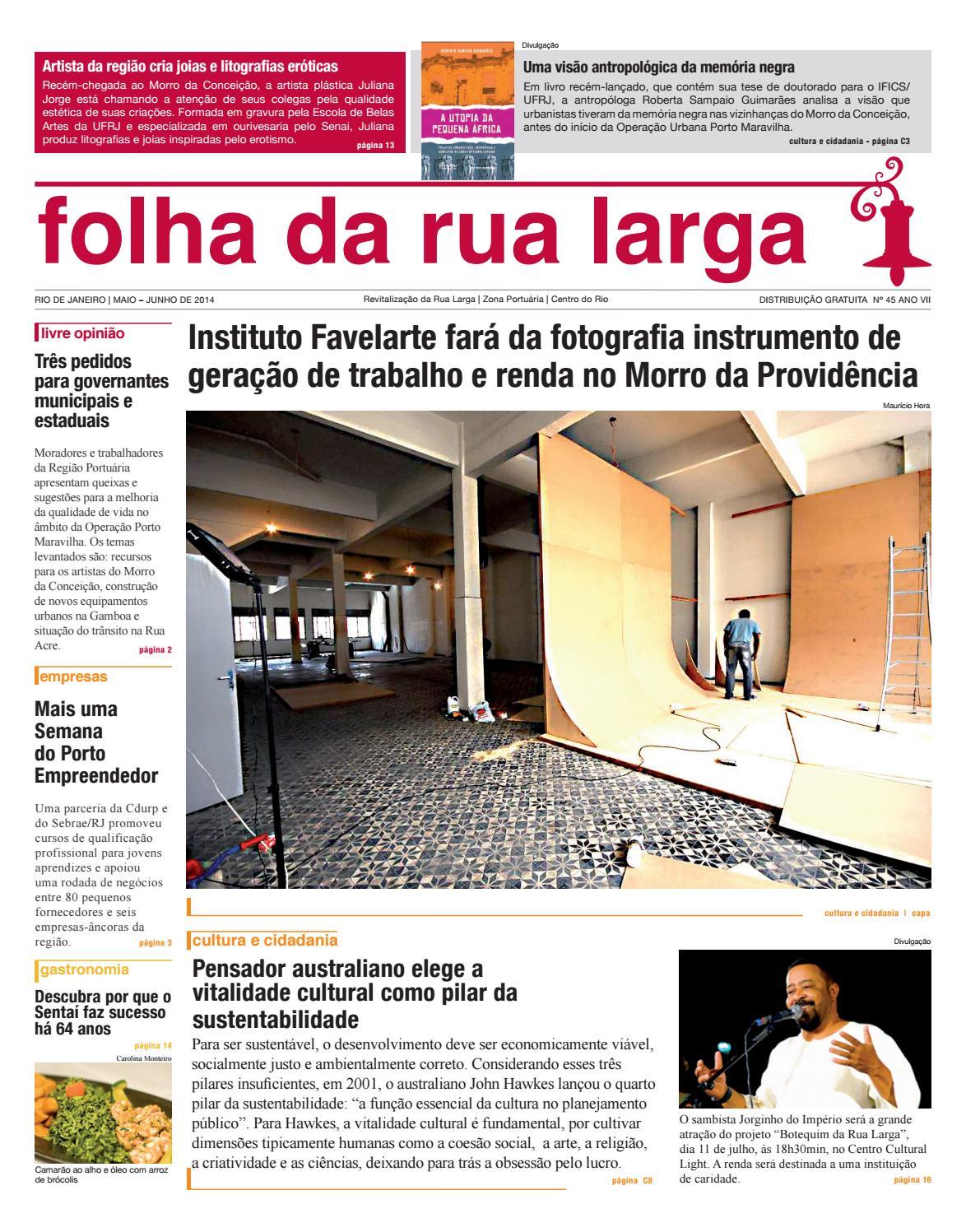 bbfe66fa30a Folha da Rua Larga Ed.45 by Instituto Cultural Cidade Viva - issuu