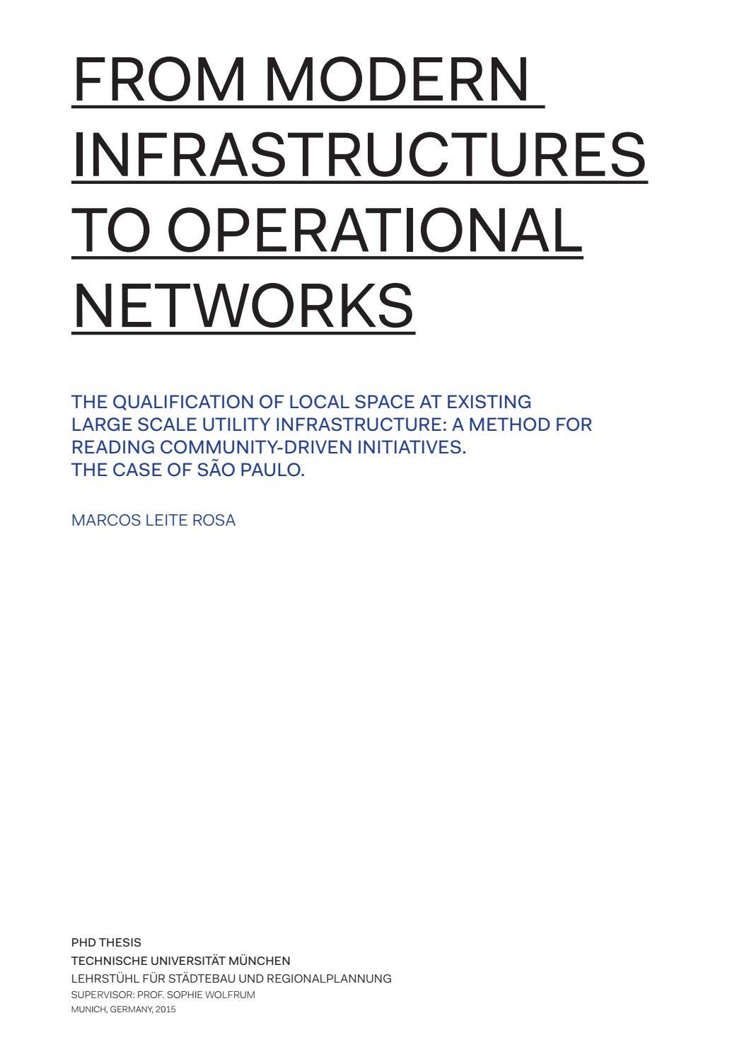 From Modern Infrastructures to Operational Networks. by marcos lros - issuu