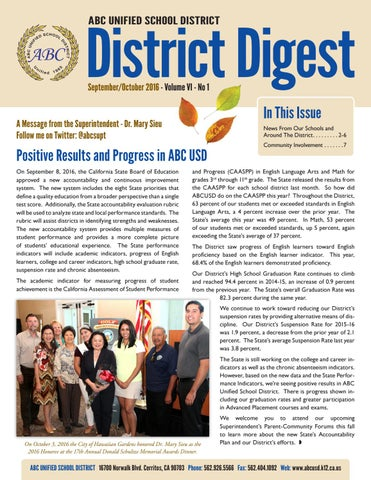 ABCUSD District Digest | September-October 2016 by Q Press