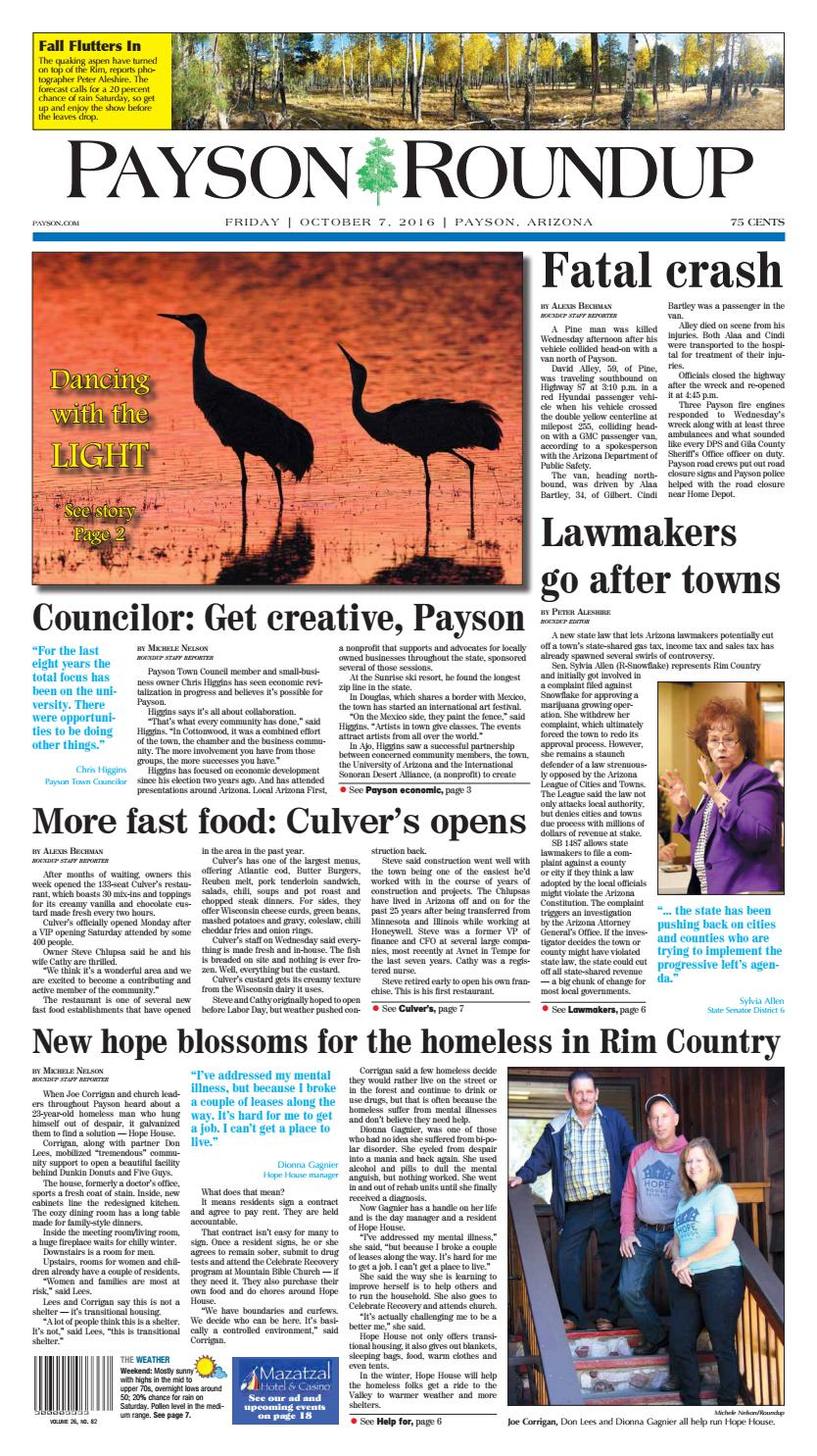 Payson Roundup 100716 by Payson Roundup - issuu