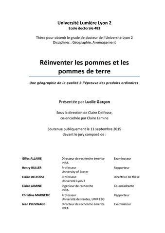 e2b29ebfb5a1 Université Lumière Lyon 2 Ecole doctorale 483 Thèse pour obtenir le grade  de docteur de l Université Lyon 2 Disciplines   Géographie, Aménagement