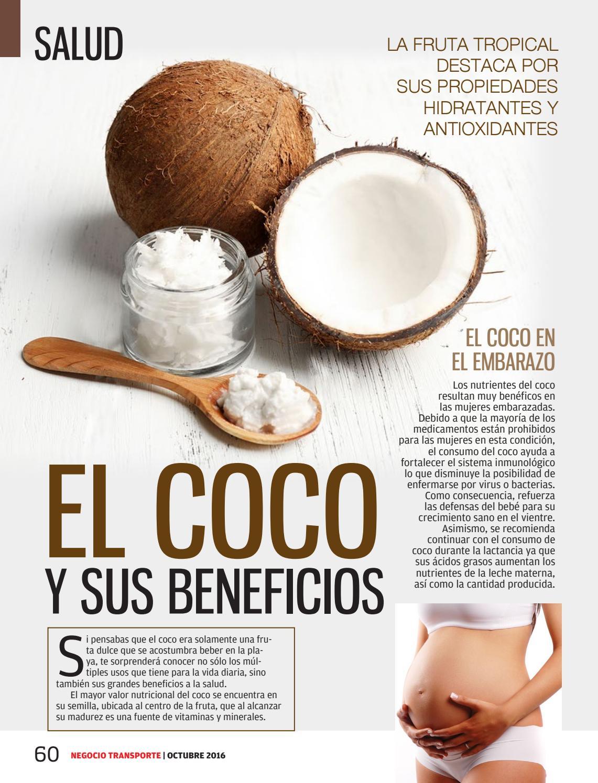 valor nutricional del coco