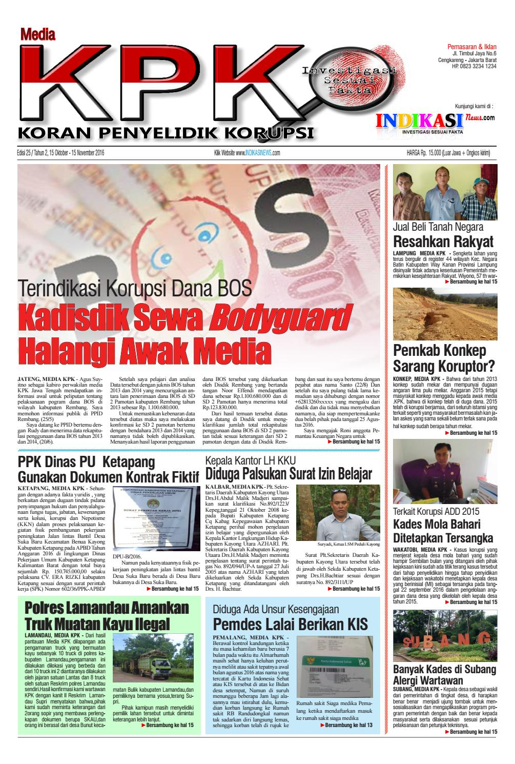 Media Kpk Edisi 25 By Issuu Paket Firia