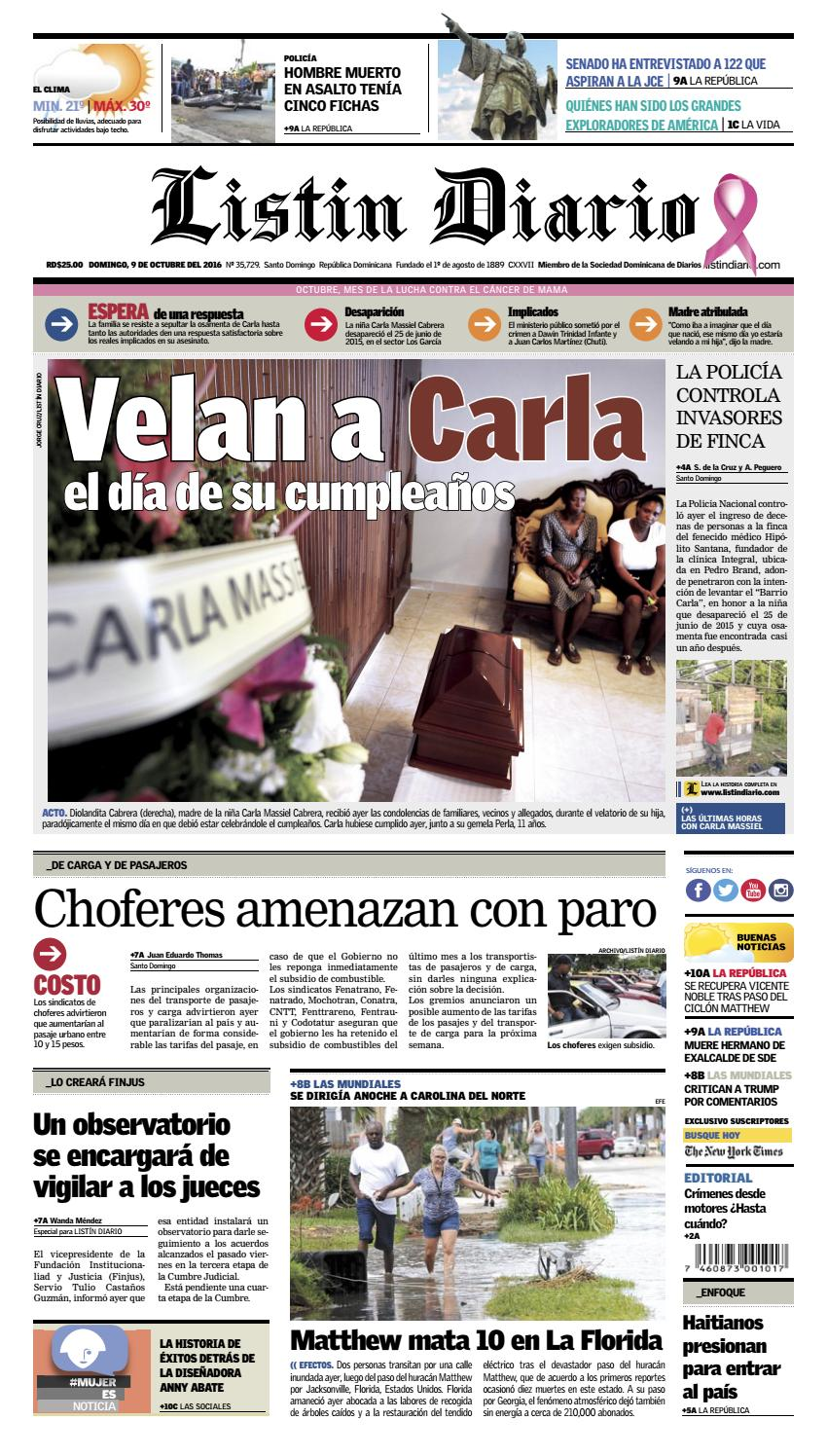 LD 09102016 by Listín Diario - issuu 8cbcab0bac2