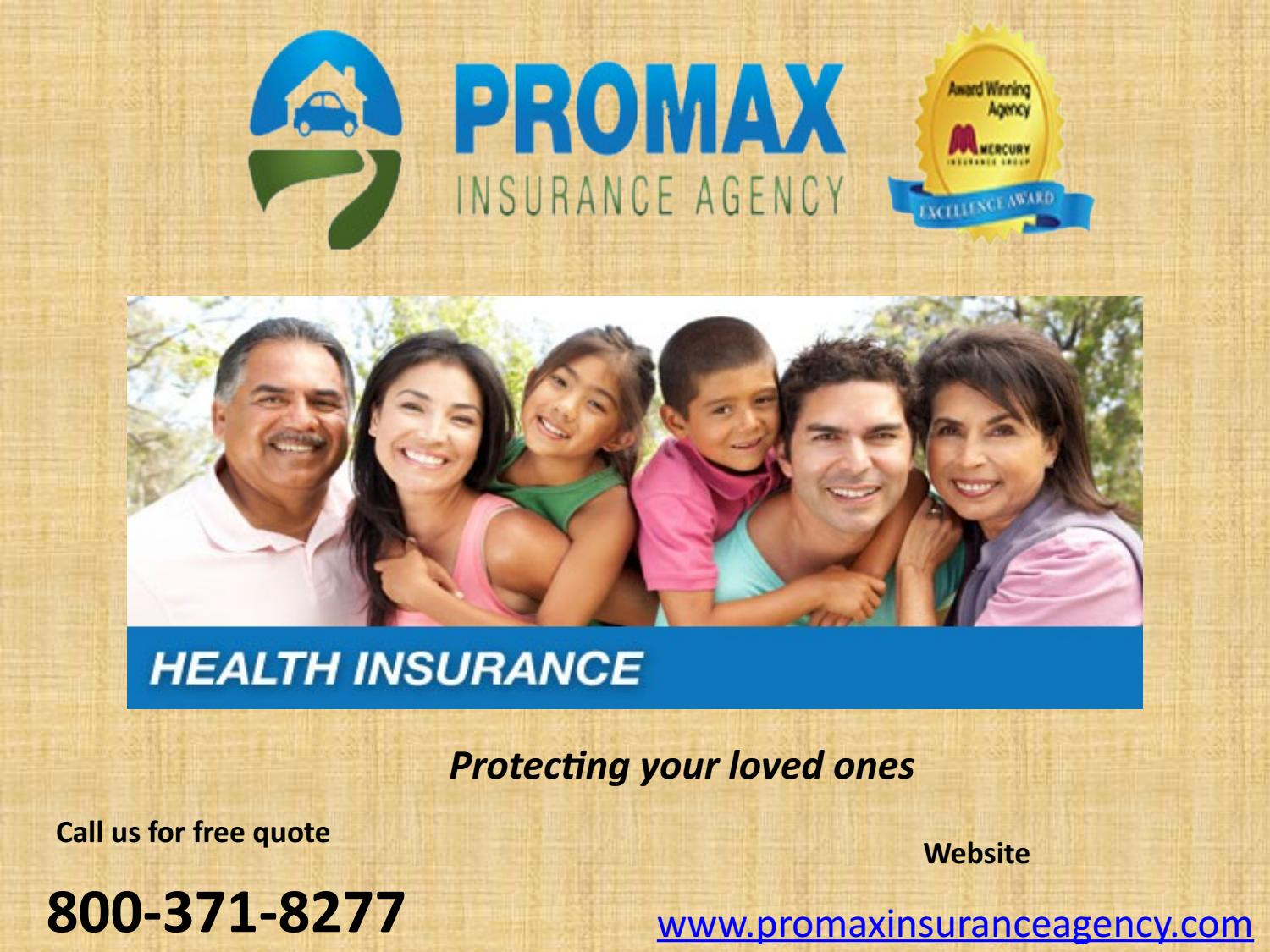Low cost health insurance in california by Promax ...