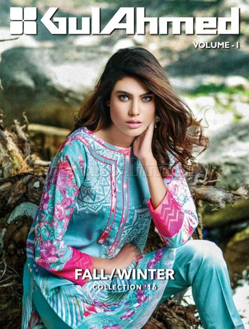 f8c8d963f2 Gul ahmed winter collection 2016 2017 catalog magazine vol 1 by Nida ...