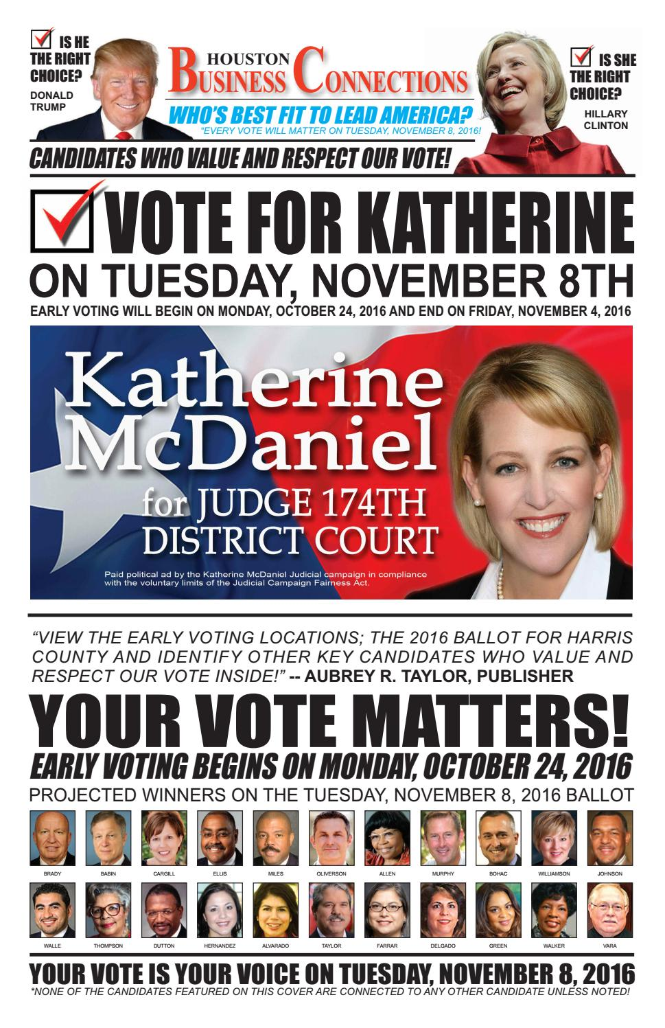 District judge 174th judicial district - Katherine Mcdaniel Seeks Your Vote In The Race For District Judge 174th District Court By Aubrey R Taylor Communications Issuu