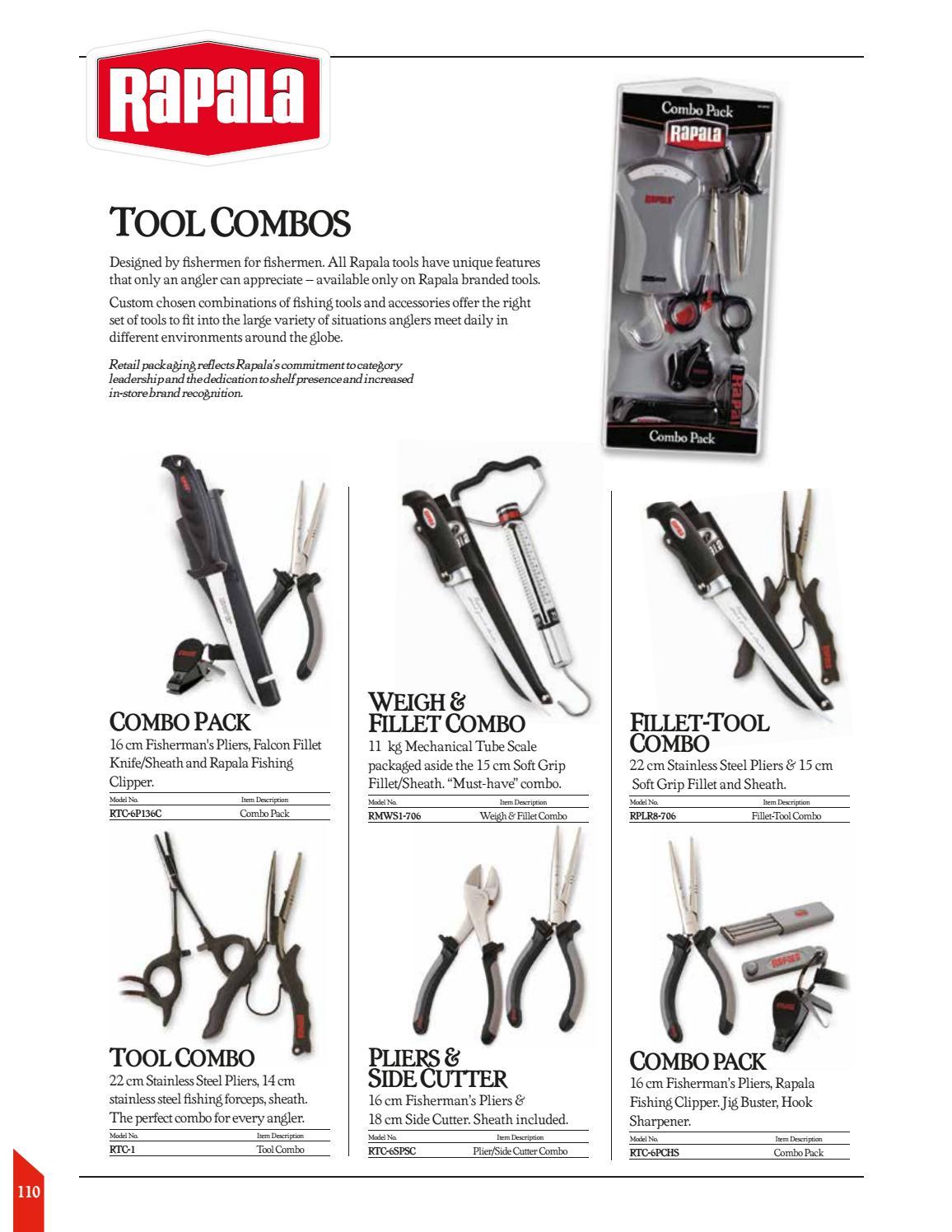 RAPALA Tool Combo Plier//Forcepts RTC-1