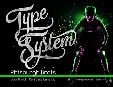 Pittsburgh Brats Type System by Sara Tinnick - issuu