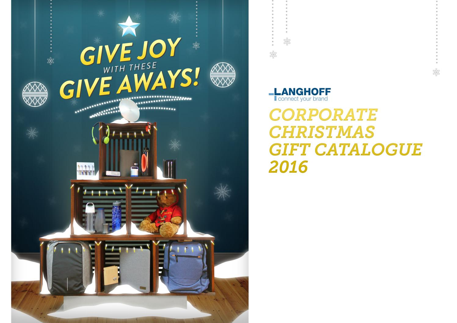 Langhoff Corporate Christmas Gift Catalogue 2016 by Langhoff ...
