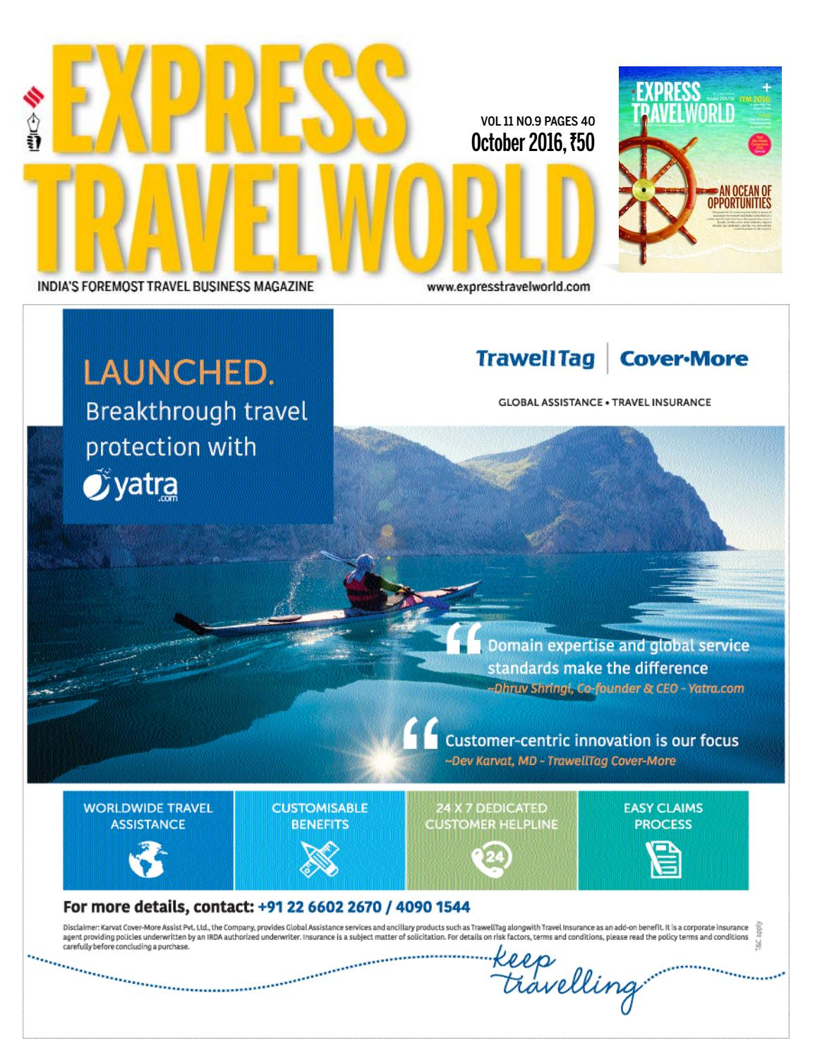 Express Travelworld (Vol.11, No.9) October, 2016 by Indian Express ...