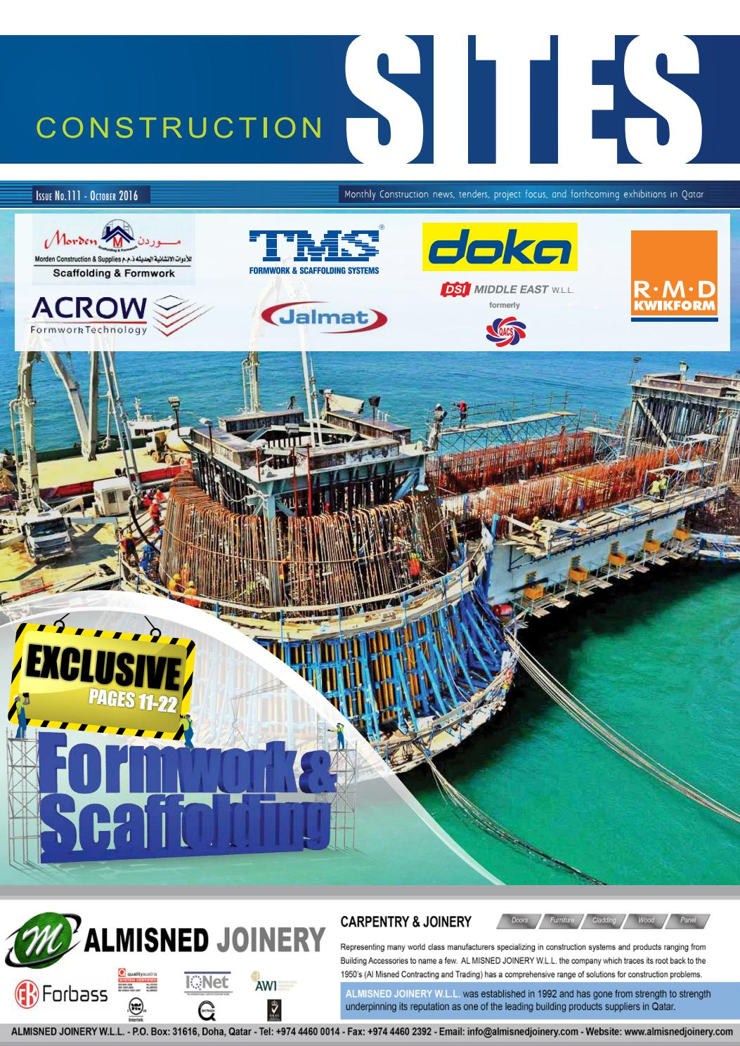 Construction Sites | October Issue no  111 by Qatar