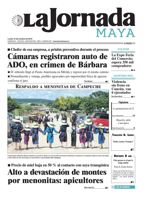 hot sale online 42072 901dc La Jornada Maya · lunes 10 de octubre, 2016 by La Jornada Maya - issuu