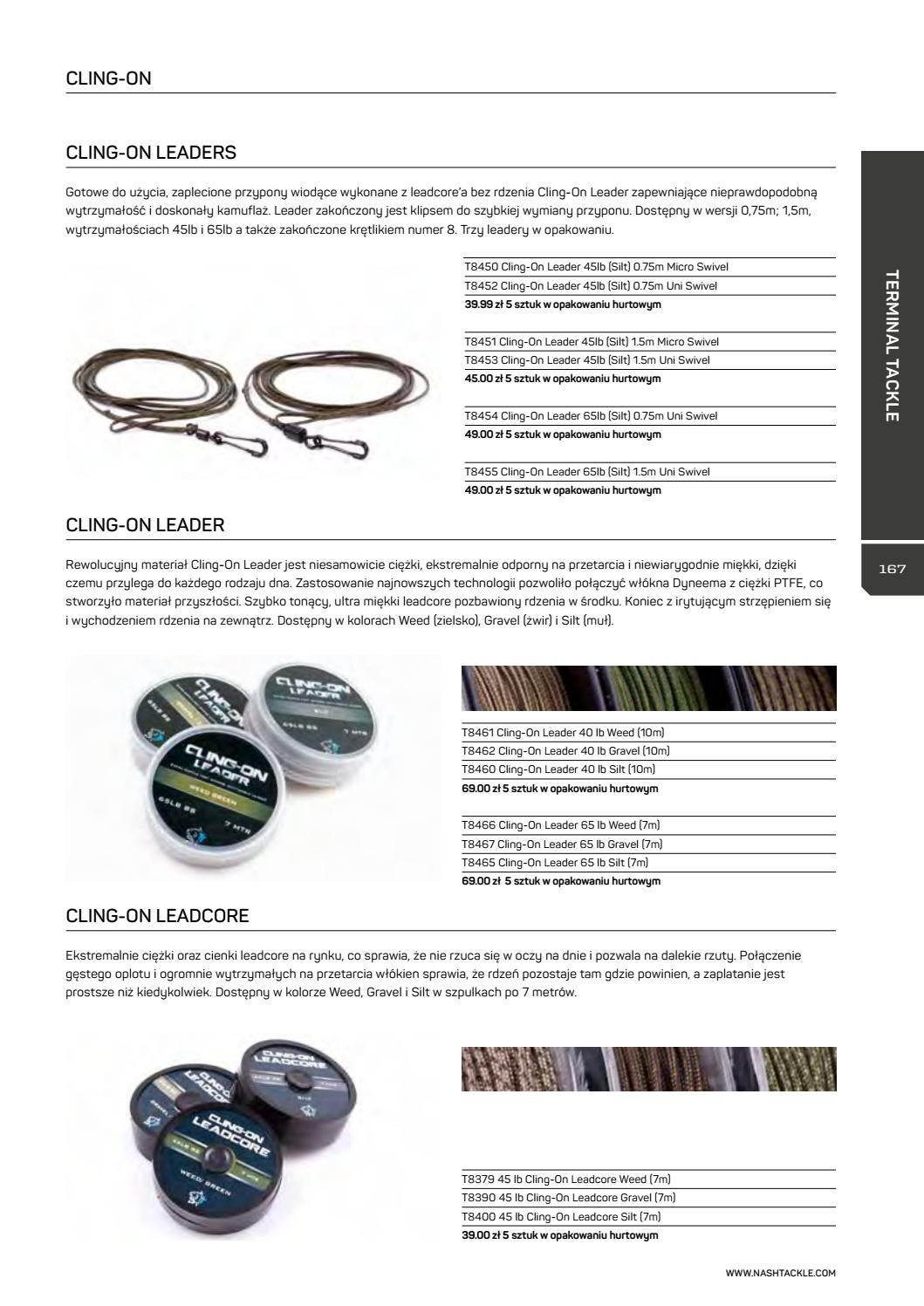 All Colours Available 40lb or 65lb Brand New Nash Cling-On Leader
