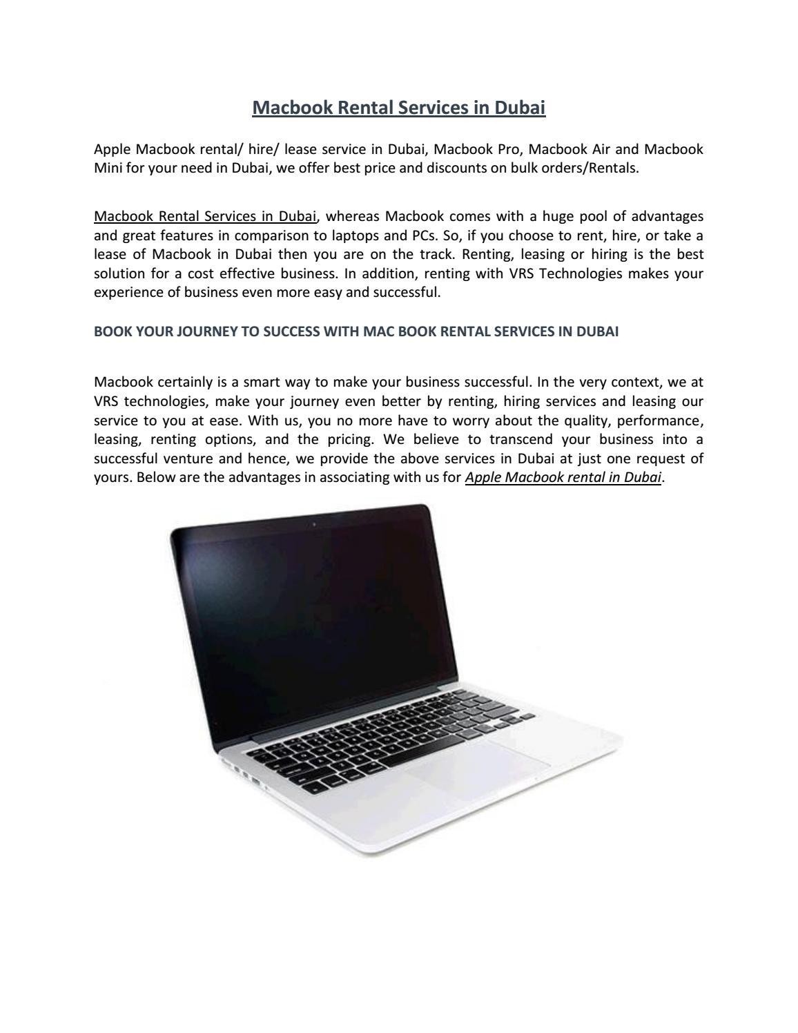 Macbook rental services by maclaptoprental - issuu